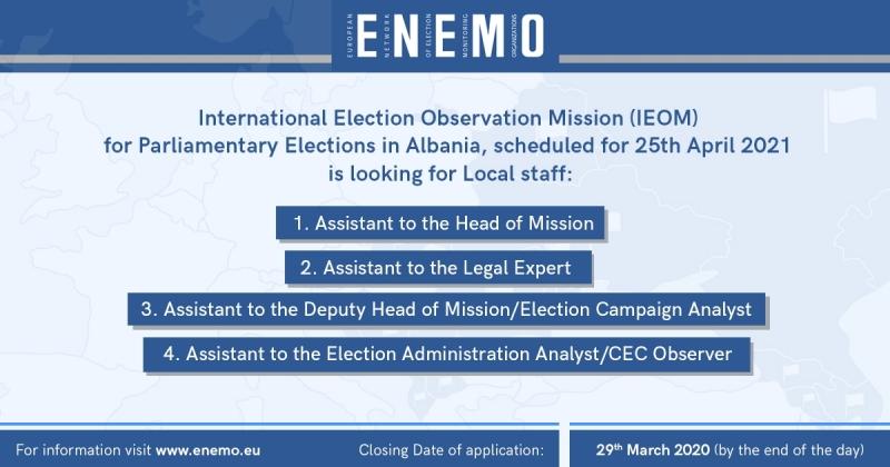 ENEMO IEOM to Albania 2021