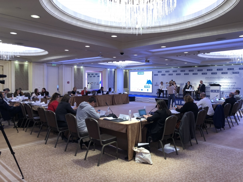 ENEMO IEOM to Ukraine presented final reports for 2019 Presidential and Early Parliamentary Election