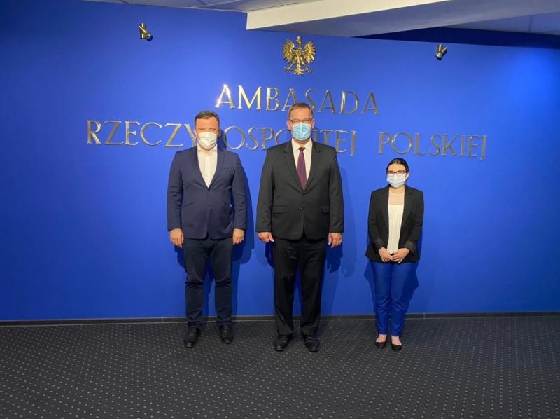 Zlatko Vujovic, HoM and Elene Nizharadze, DHoM of ENEMO EOM to Moldova met with Mr. Bartlomiej Zdaniuk, Ambassador of Poland to the Republic of Moldova