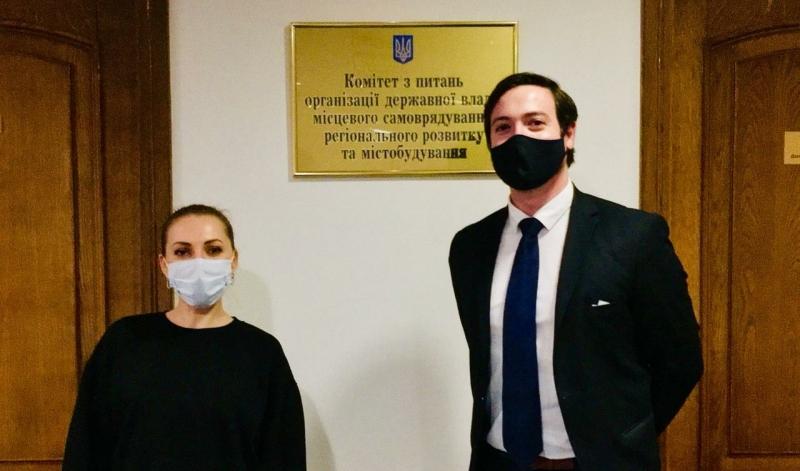 Deputy Head of the ENEMO Mission to Ukraine 2020 met with Ms. Alina Zagoruiko, Member of Ukrainian Parliament