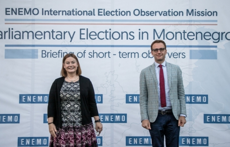 Briefing of short-term observers organized by ENEMO IEOM to Montenegro