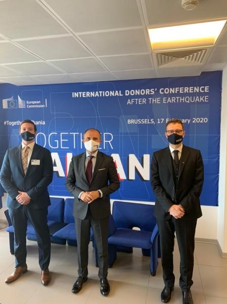 ENEMO Head of Mission Dr. Gianluca Passarelli and Deputy Head of Mission Pierre Peytier met with the Ambassador of the EU Delegation H.E Luigi Soreca
