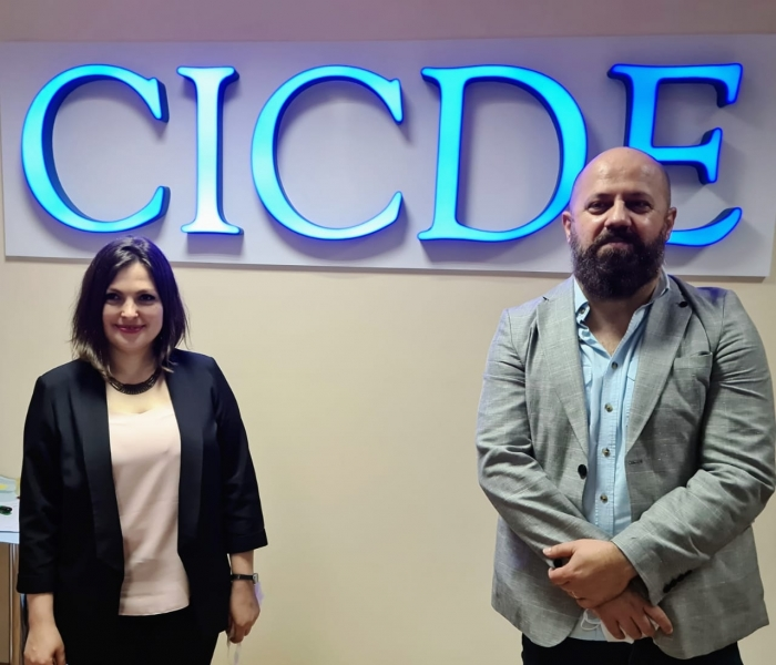 Elidon Lamani, Election Analyst/CEC Observer of ENEMO's mission to Moldova met with Ms. Doina Bordeianu, Director of the Centre of Continuous Electoral Training (CICDE)