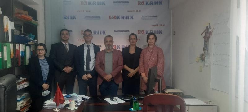 ENEMO IEOM to Albania met with representatives from KRIIK Albania Association