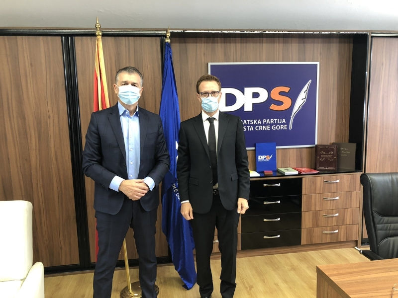 ENEMO Head of Mission met with Political Director of the Democratic Party of Socialists