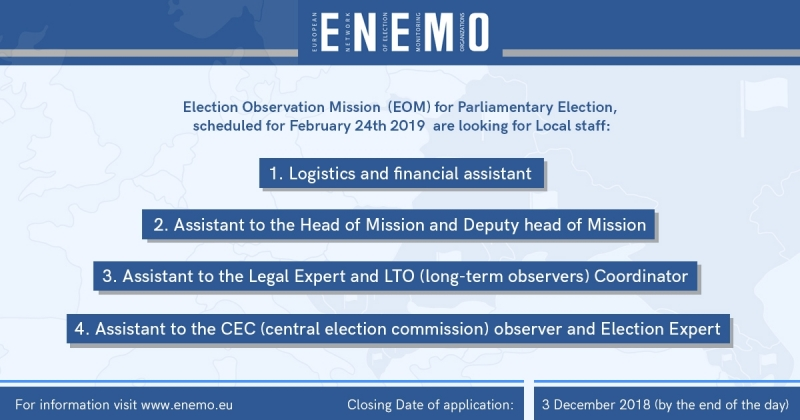 Vacancies Announcement EOM to Moldova