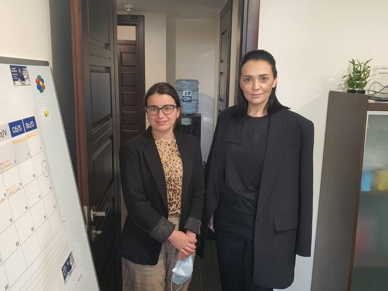 Ms. Elene Nizharadze, DHoM of ENEMO's mission to Moldova met with Ms. Elena Grițco, Deputy Head of Partidul Nostru Electoral Block