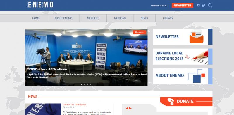 New ENEMO website