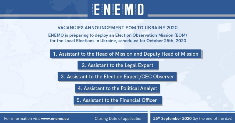 Vacancies Announcement EOM to Ukraine 2020