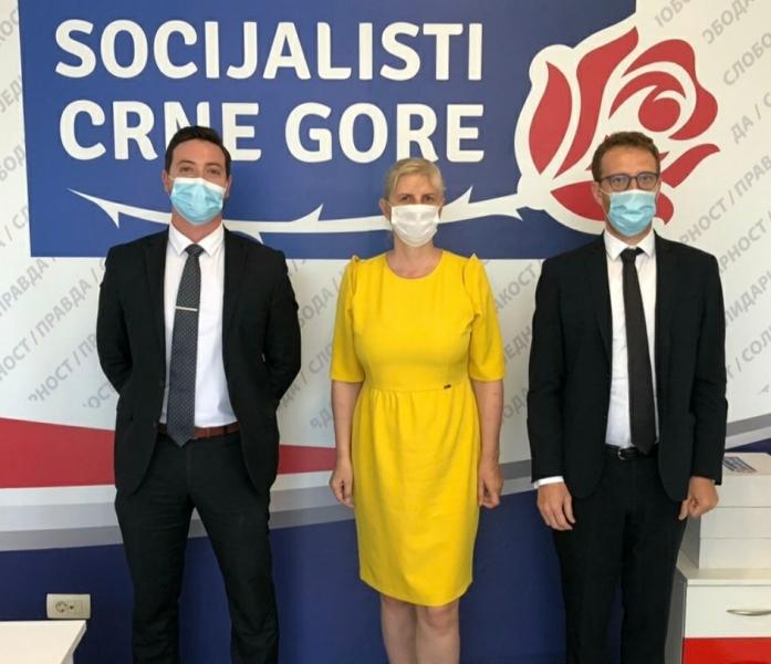 ENEMO representatives met with Mrs. Snezana Jonica Head of the party Socialists of Montenegro