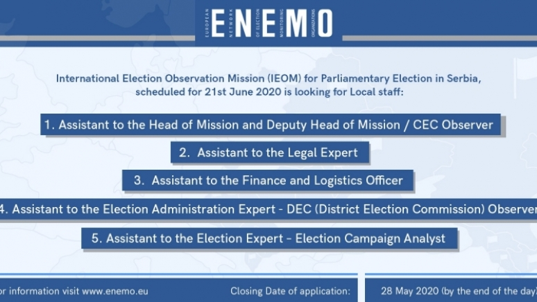 Call for local staff positions - IEOM to Serbia 2020