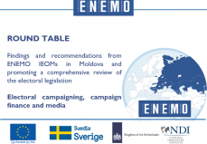 Findings and recommendations from ENEMO IEOMs in Moldova and promoting a comprehensive review of the electoral legislation